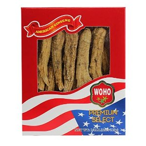 WOHOAmerican Ginseng #099.4, Long Jumbo XL Cultivated Roots 4oz