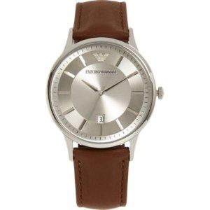 Emporio Armani棕色皮革手表