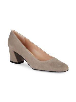 Marymid 麂皮粗跟鞋