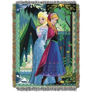 DisneyDisney Frozen Anna and Elsa Tapestry Throw