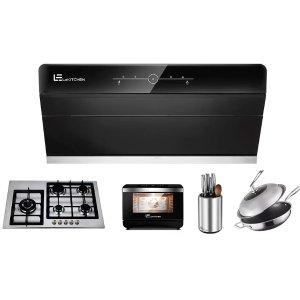 X800PRO抽油烟机+G705炉+SG01蒸烤箱+SUD01消毒架+32cm不粘锅