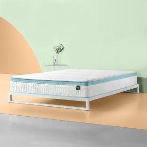 $112起Zinus 绿茶记忆棉弹簧床垫热卖
