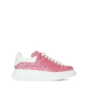 Alexander McQueen水晶粉色 小白鞋
