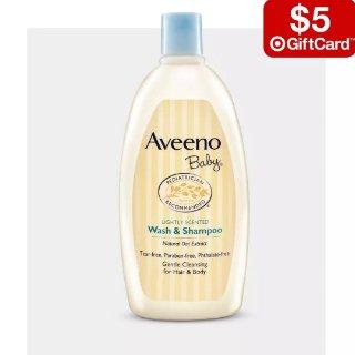 买3件送$5礼卡Aveeno Baby 婴幼儿洗护用品热卖