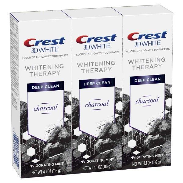 竹炭3D 美白牙膏 4.1 Oz, 3支