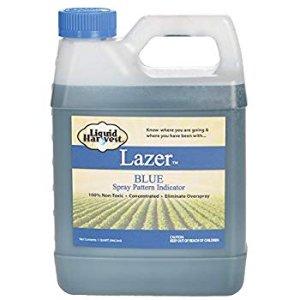 Amazon.com: Liquid Harvest Lazer Blue Concentrated Spray Pattern Indicator - 1 Quart (32 Ounces) - Perfect Weed Spray Dye, Herbicide Dye, Fertilizer Marking Dye, Turf Mark and Blue Herbicide Marker (Quart, 00117): Home & Kitchen