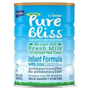 SimilacPure Bliss by Similac Infant Formula, Modeled After Breast Milk, Non-GMO Baby Formula, 31.8 ounces