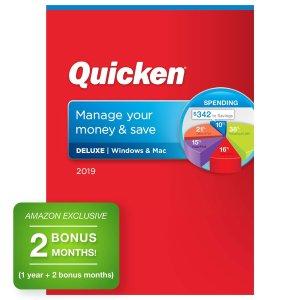 Quicken Deluxe 2019 Personal Finance Software