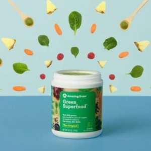 $8.96Amazing Grass Green Superfood Organic Powder with Wheat Grass and Greens, Flavor: Original, 30 Servings