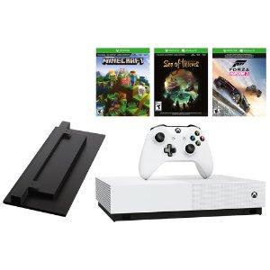 $239.99(原价$329) 轻度玩家好选择Xbox One S 游戏主机 送三个游戏+竖直支架+黄金会员