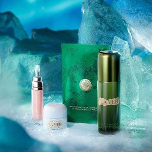 满额享7折La Mer 全线热促 收1斤装超值神奇面霜、鎏金系列、护肤套装