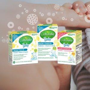 额外8.5折+9.5折+包邮Culturelle 婴幼儿益生菌特卖,增强免疫力,低至$9.88