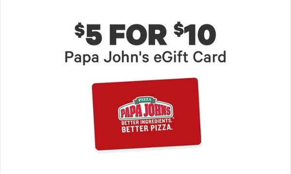 Groupon官网 Papa John's $10电子礼卡促销