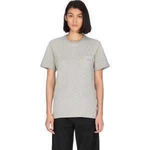 Maison Kitsune- Tricolor Fox Patch T-Shirt - Grey Melange