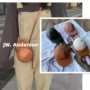 JW Anderson5折,棕白拼色帽子包