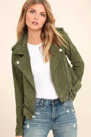 Blank NYC Backhanded Jacket - Genuine Suede Jacket - Moto Jacket