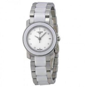 $140Dealmoon Exclusive: TISSOT T-Trend Cera White Ceramic Diamond Ladies Watch