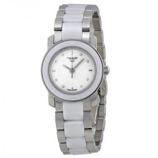 $140TISSOT T-Trend Cera White Ceramic Diamond Ladies Watch