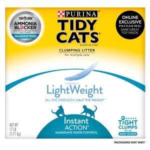 Tidy Cats LightWeight 凝结猫砂 17lb 相当于35lb