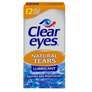 Clear Eyes Natural Tears Lubricant Eye Drops | Soothes and Moisturizes| 0.5 Ounce