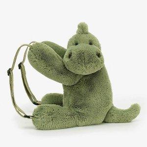 菠萝包£22 小恐龙双肩包£35Jellycat 超萌包包、挂饰专场 收小鸡蛋&小茄子斜挎包、小恐龙双肩包等