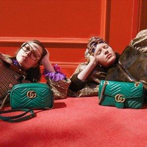 新品9折 双G相机包£720 YSL包包£724BASE BLU 秋冬新品大促 收Gucci、Burberry、YSL