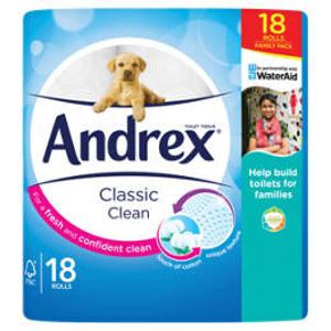 卫生纸12卷£4.75 18卷仅£7抗疫必备:卫生纸、面巾纸、厨房纸热卖 Andrex、Kleenex 都有