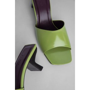 by FARLily Lime Green Semi Patent Leather