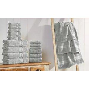浴巾手巾毛巾18件套