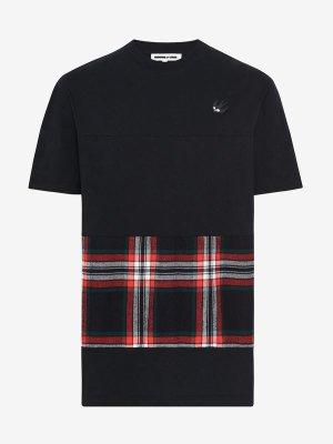 Swallow Tartan T Shirt  McQ | T Shirt |    
