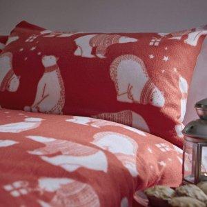 低至7折£10入圣诞老人可爱被罩闪购:Amazon 圣诞风床单、被罩、枕套 闪促热卖