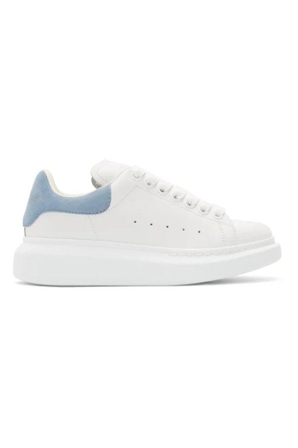 雾霾蓝尾小白鞋