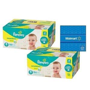 两箱送$20礼卡折扣升级:Pampers 婴儿纸尿裤热卖,Swaddlers等各系列都参加