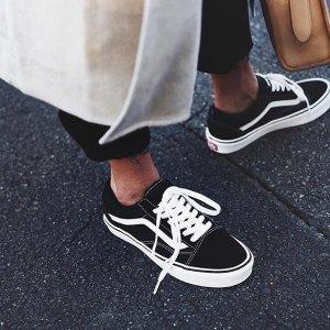 $27.99Vans 低帮滑板鞋 大童尺码也能选女生也能穿