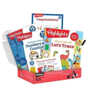 首单仅$9.99包邮独家:Highlights Preschool、K班、一年级学习辅材包订购促销