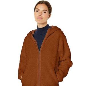 Black Friday Sale Live: Daily Ritual Women's Teddy Bear Fleece Hooded Zip Jacket