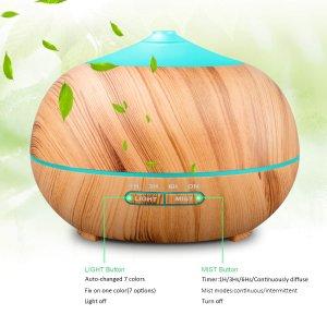 €22.09 (原价€37.99)Tenswall 木质外壳超声波精油加湿器