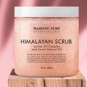 Majestic Pure 喜玛拉雅盐身体磨砂膏热卖 带荔枝清香