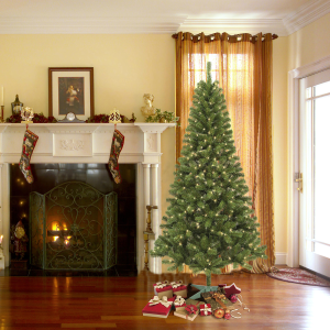 Trimming Traditions 7' Pre-Lit Alpine Balsam Fir Christmas Tree with 250 Clear Lights @ Sears.com
