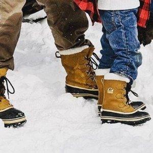 6折起+额外8折 小码妹纸福利折扣升级:Sorel 儿童区 雪地里奔跑的小精灵 $25收小童雪地靴