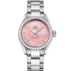 EXTRA $1000 OFF OMEGA Seamaster Aqua Terra Automatic Diamond Ladies Watches 2 styles
