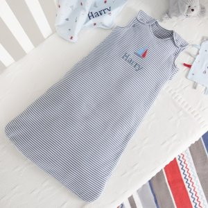 $29Personalized Nautical Print Baby Sleep Bag @ My 1st Years