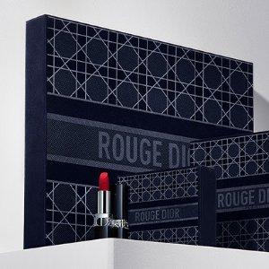 £29起+送6件!绝美午夜天鹅绒Dior  2021秋冬烈艳蓝金 高订限量唇膏套装 复古奢华高级感!