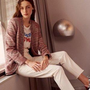 5折起 £99收小香风开衫Claudie Pierlot 法风美衣大促 收长袖连衣裙、小香风外套等