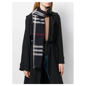 BurberryGiant Check 羊毛圍巾