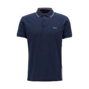 BOSSBOSS - Regular-fit polo shirt in suede-effect cotton jersey
