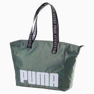 Puma绿色tote包