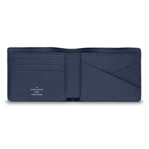 LOUIS VUITTON Multiple Wallet Taiga Leather