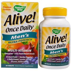 Nature's Way Alive! Once Daily, Men's Multi-Vitamin, 60 Tablets