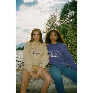 FILA UO Exclusive Vella Sherpa Mock Neck Sweatshirt